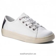 Köp topp varumärke Damskor Sneakers TOMMY JEANS - Tommy Jeans Light Leather Low EN0EN00230 Vit